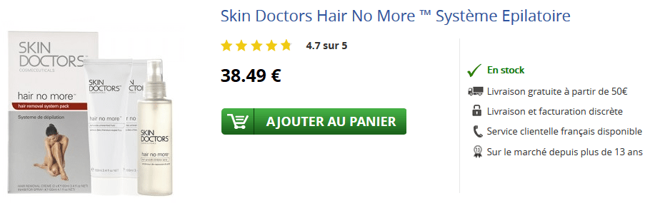 acheter skin doctors hair no more