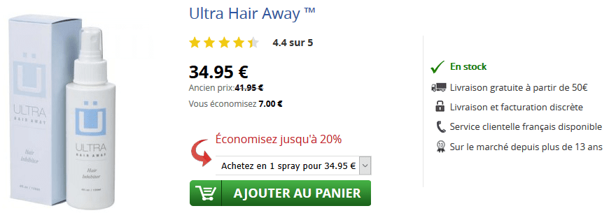 acheter ultra hair away