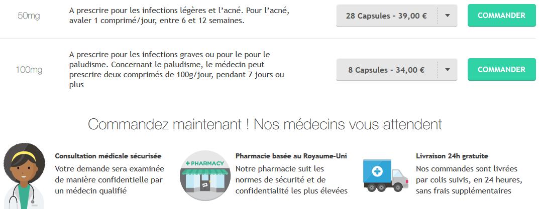 doxycycline prix
