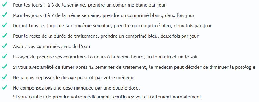 posologie champix
