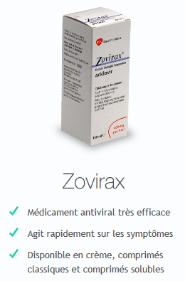 traitement zona zovirax