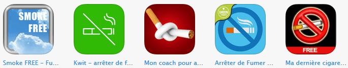 application pour arreter de fumer
