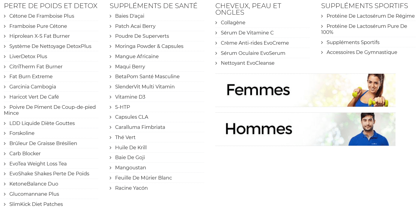 evolution slimming france
