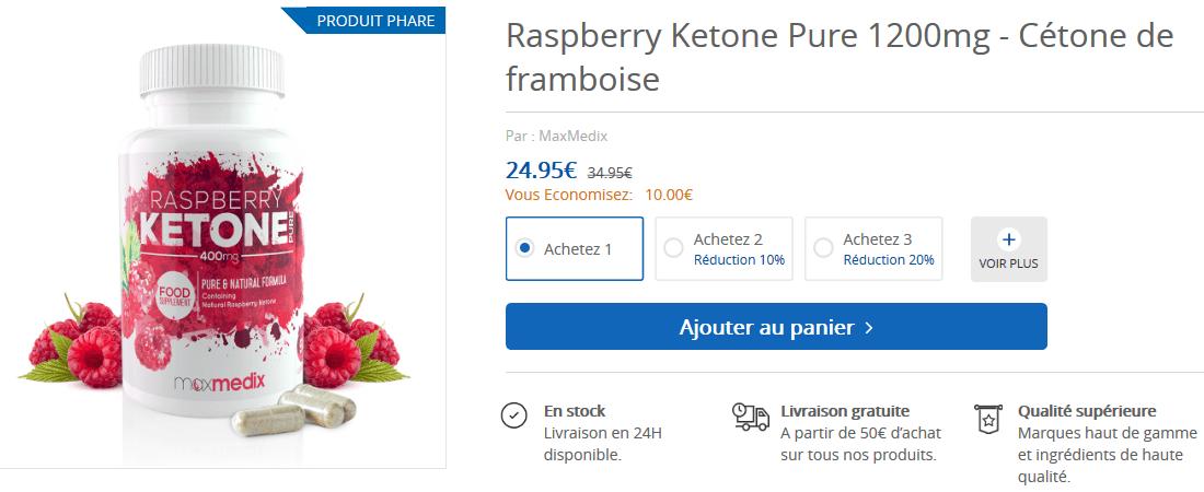 acheter cetone de framboise