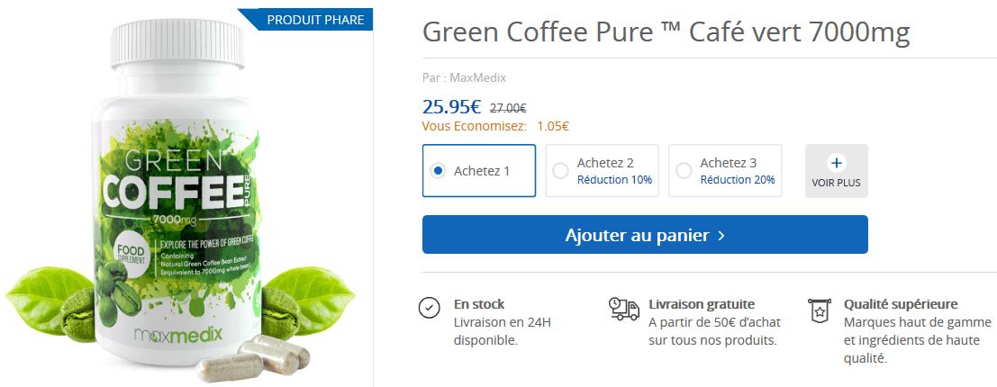 café vert prix