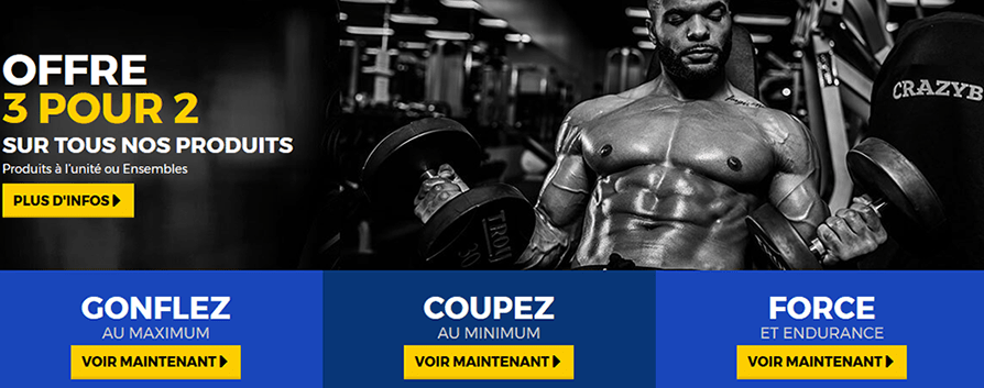 site officiel crazybulk