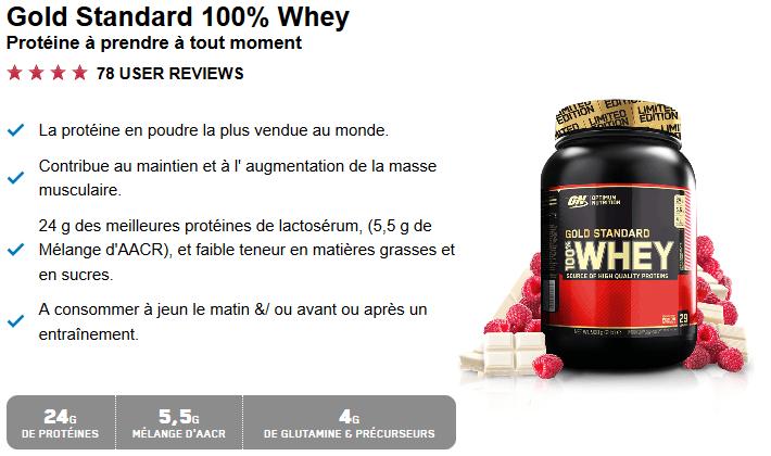prix proteine whey