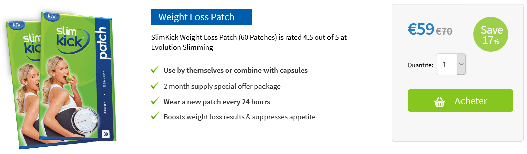slim weight patch prix